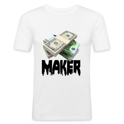 MONEYMAKERBLACK - Mannen slim fit T-shirt