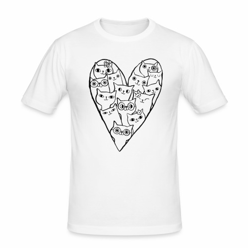 I Love Cats - Men's Slim Fit T-Shirt