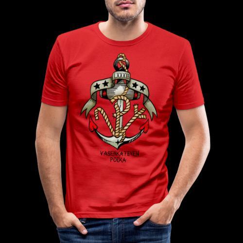 VP Ankkuri Väreillä - Miesten tyköistuva t-paita