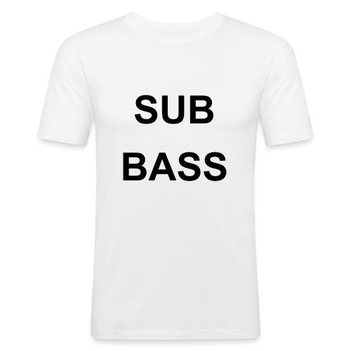 sub bass - Mannen slim fit T-shirt