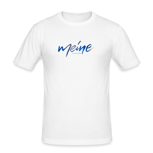 Meine Logo Blau - Männer Slim Fit T-Shirt