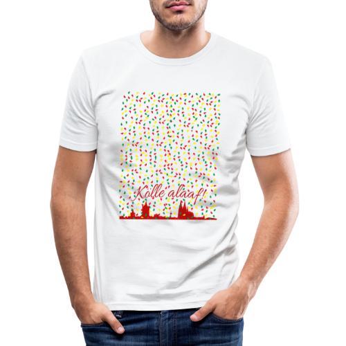 Konfettiregen, Kölle alaaf! - Männer Slim Fit T-Shirt