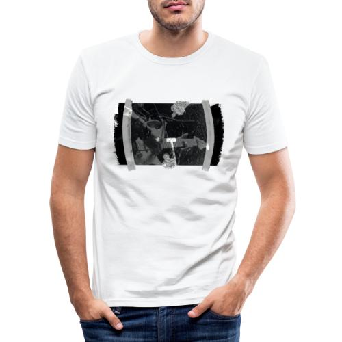 Men at Work (with black PS logo) - Herre Slim Fit T-Shirt