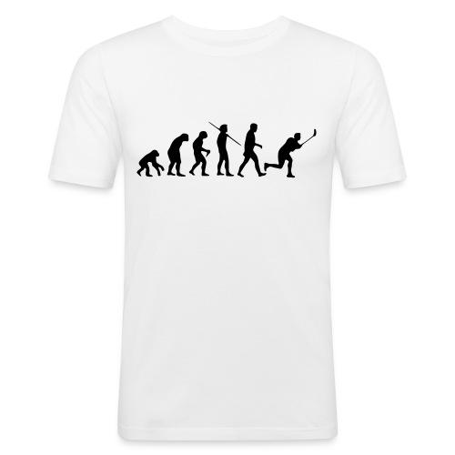 Floorball Evolution Black - Männer Slim Fit T-Shirt