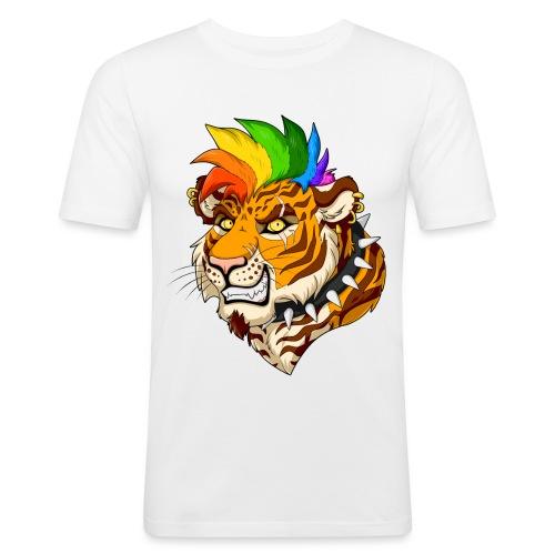 Punk Tiger - Obcisła koszulka męska