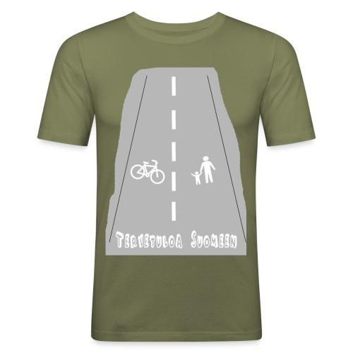 Tervetuloa Suomeen - Miesten tyköistuva t-paita
