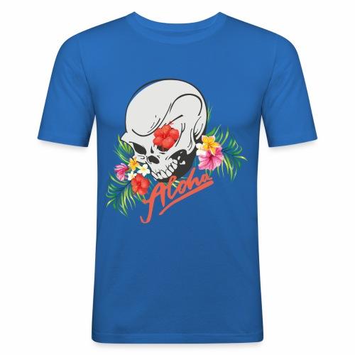 Hawaiian Skull Aloha Surfer Design - Männer Slim Fit T-Shirt