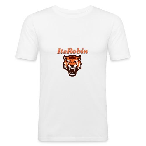 ItsRobin nieuw logo - Mannen slim fit T-shirt