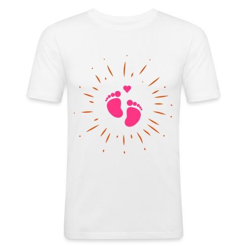 Naissance bébé pour papa ou maman - T-shirt près du corps Homme