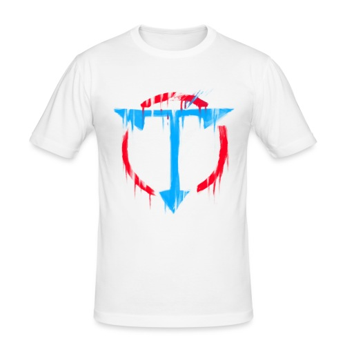 Graffiti OrdinaryTuber Logo - Men's Slim Fit T-Shirt