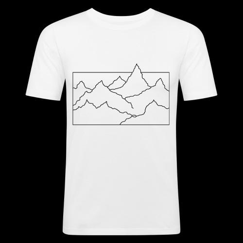 Kontur Gebirge schwarz - Männer Slim Fit T-Shirt