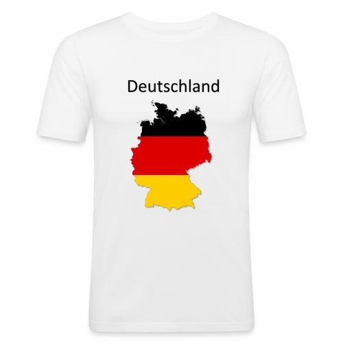 Deutschland Karte - Männer Slim Fit T-Shirt