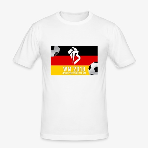 BaNg Logo + Bälle - Männer Slim Fit T-Shirt