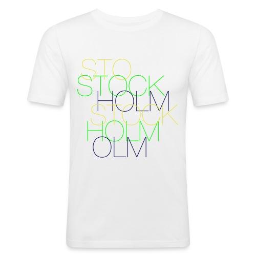 le stockholm - Slim Fit T-shirt herr