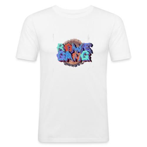 RoweGang Basic Logo - Miesten tyköistuva t-paita
