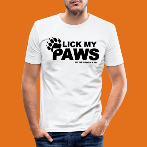lick my paws - Men's Slim Fit T-Shirt