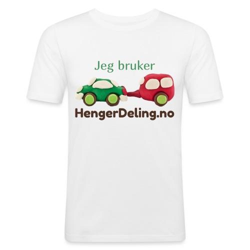 Jeg bruker HengerDeling.no - Slim Fit T-skjorte for menn
