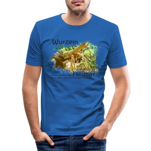 Wurzeln bleiben - Männer Slim Fit T-Shirt