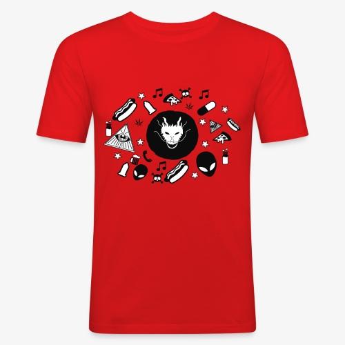 TRIPPY - Mannen slim fit T-shirt