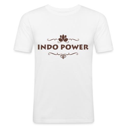 indo lotus1 - Mannen slim fit T-shirt