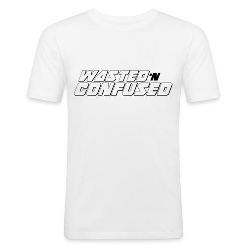 OFFICIAL WNC MERCHANDISE (wit) - Mannen slim fit T-shirt