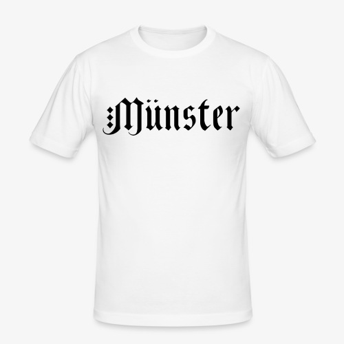 MuensterFraktur - Männer Slim Fit T-Shirt