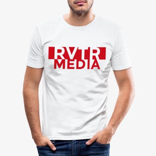 RVTR media red - Männer Slim Fit T-Shirt