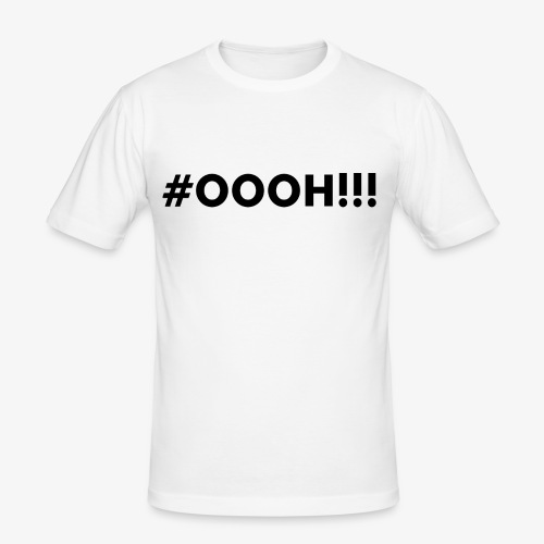 #OOOH!!! Black - Mannen slim fit T-shirt