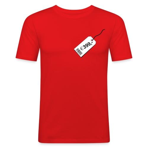 shirtspricetagcs2 - Mannen slim fit T-shirt