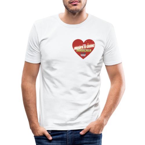 Musikk & Glede Hjertemotiv - Slim Fit T-skjorte for menn