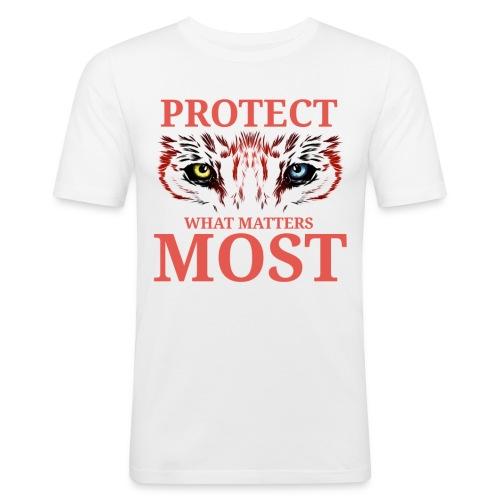 T.Finnikin Designs - Protect - Men's Slim Fit T-Shirt