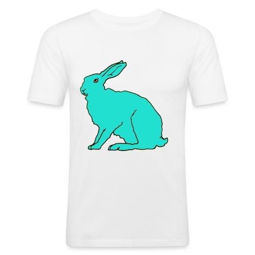 türkiser Hase - Männer Slim Fit T-Shirt
