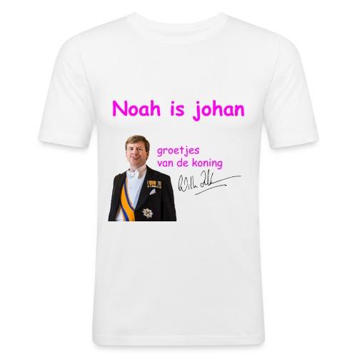 Noah is een echte Johan - Mannen slim fit T-shirt