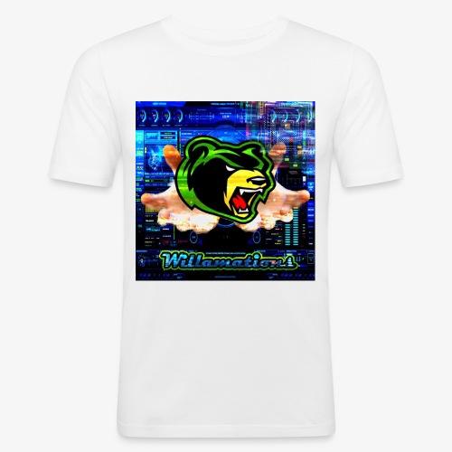 Willamations GeZy logo - Men's Slim Fit T-Shirt