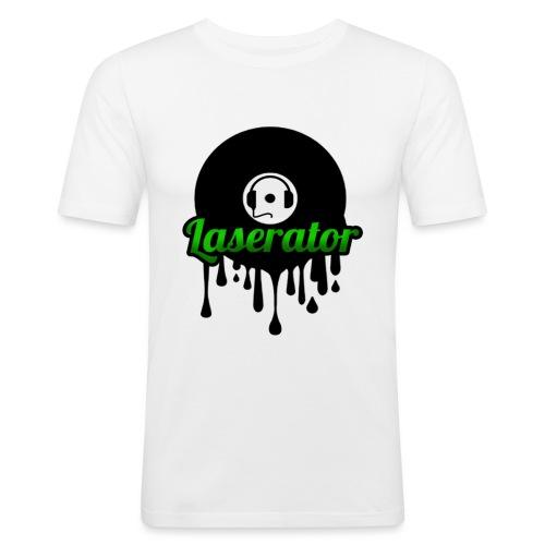 Laserator Logo - Männer Slim Fit T-Shirt