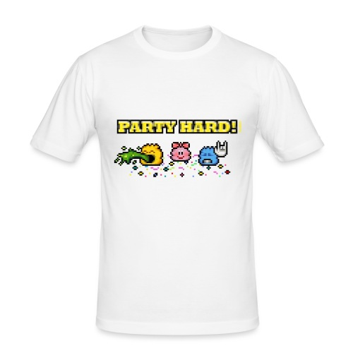 Party Hard! - Männer Slim Fit T-Shirt