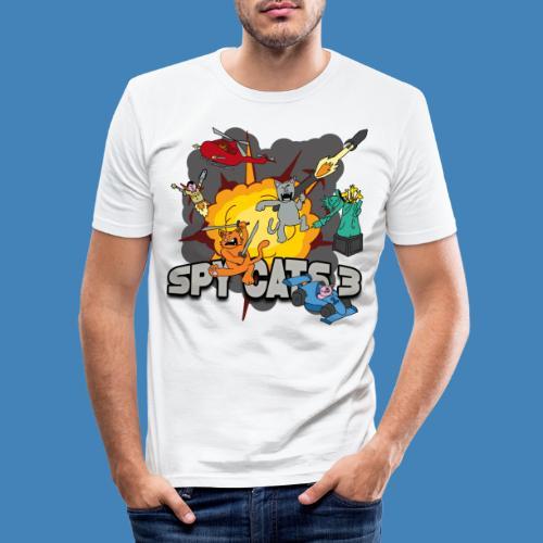 Spy Cats 3 - Mannen slim fit T-shirt