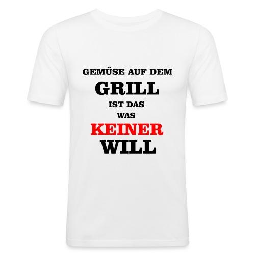 Gemüse auf dem Grill - Männer Slim Fit T-Shirt