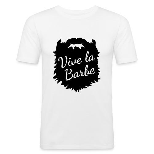 T-Shirt Barbe : Vive la Barbe - QueBellissimo - T-shirt près du corps Homme