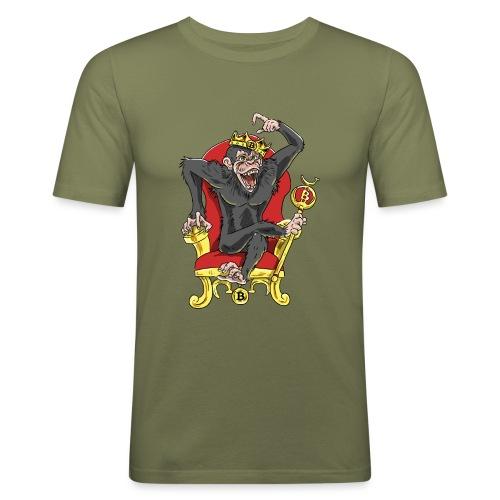 Bitcoin Monkey King - Beta Edition - Männer Slim Fit T-Shirt