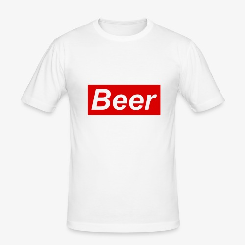 Beer. Red limited edition - Mannen slim fit T-shirt