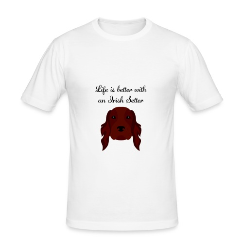 life is better with an irish setter - Slim Fit T-shirt herr