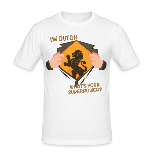 I'm Dutch, what's your superpower? - Mannen slim fit T-shirt