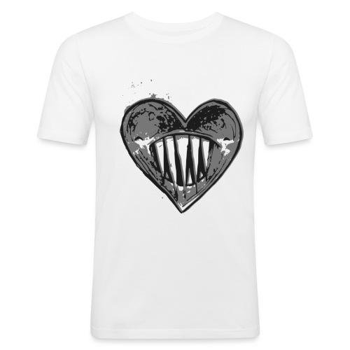 Corazón Negro - Camiseta ajustada hombre