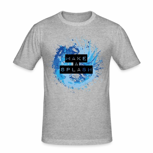 Make a Splash - Aquarell Design in Blau - Männer Slim Fit T-Shirt