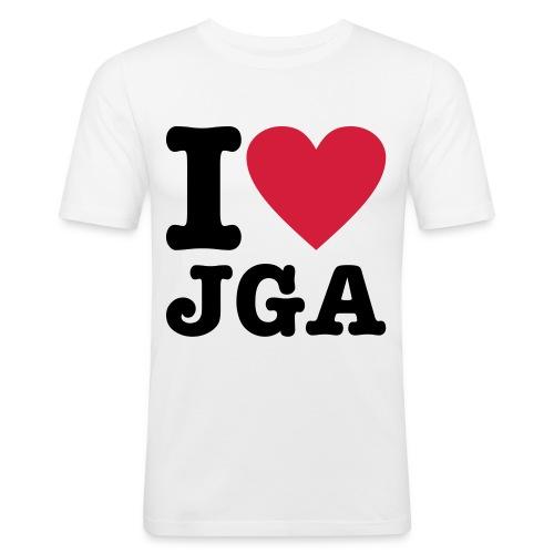 I love JGA - Männer Slim Fit T-Shirt
