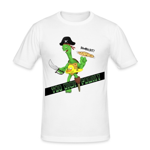 The kiwi family logo - Slim Fit T-skjorte for menn
