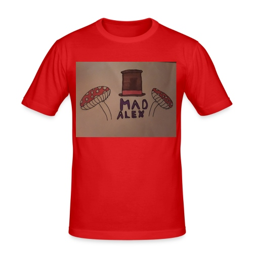 Mad Alex Logo - Men's Slim Fit T-Shirt