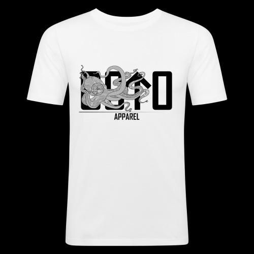 OctoApparel Logo schwarz - Männer Slim Fit T-Shirt