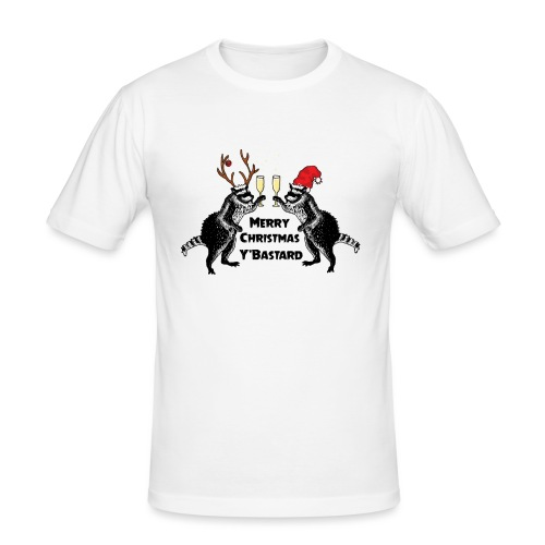 Xmas Raccoons - Men's Slim Fit T-Shirt